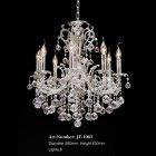 <b>【LA LUCE】</B>クリスタルボールシャンデリア 8灯 クローム(W580×H630mm)