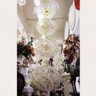 <b>【LA LUCE】</B>クリスタルシャンデリア 24灯 ゴールド(W500×H2500mm)