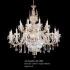 <b>【LA LUCE】</B>クリスタルシャンデリア 24灯 ゴールド(W1300×H1500mm)