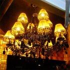 <b>【5台から注文可】</B>モダンシャンデリア 12灯 メタルブラック(W800×H620mm)
