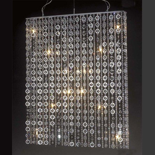 【5台から注文可】 モダンシャンデリア 12灯 シルバー(W1200×D110×H1500mm)