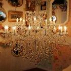 <B>【LA LUCE】</B>アスフールクリスタルシャンデリア 24灯 ゴールドorクローム(W1350×H1150mm)