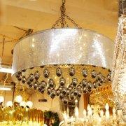 【1台在庫有!】【LA LUCE】デザインクリスタルシーリングシャンデリア 25灯(W860×H450mm)