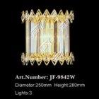 【LA LUCE】クリスタルブラケット 3灯 ゴールド(W250×H280)