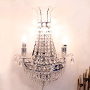 <b>【LA LUCE】</b>エンパイヤ型クリスタル・ブラケット 4灯 (W350×H550)シャンパンゴールド