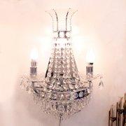 【1台在庫有!】【LA LUCE】エンパイヤ型クリスタル・ブラケット 4灯 (W350×H570)