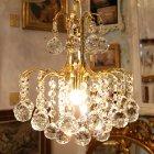 <b>【5台から注文可】</b> クリスタルシャンデリア 1灯 ゴールド (W 250×H 250mm)