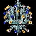 【VENICE ARTE】ヴェネチアンシャンデリア「Iris vangogh」45灯(φ1800×H2000mm)