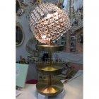 デザインクリスタルテーブルライト 4灯 アンティークゴールド(φ300×H700mm)