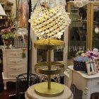 【1台在庫有!】デザインクリスタルテーブルライト 4灯 アンティークゴールド(φ320×H700mm)