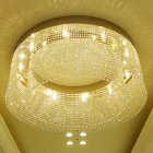 <B>【LA LUCE】</B>大型クリスタルライン・リングシャンデリア 32灯(φ1200×H500mm)