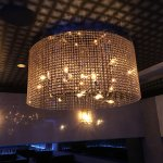 <B>【LA LUCE】</B>大型クリスタルライン・リングシャンデリア 10灯〜15灯(W1000×H400〜500mm)