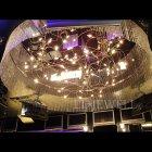 <B>【LA LUCE】</B>大型クリスタルライン・リングシャンデリア 40灯〜60灯(W2000×H400〜500mm)