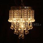 <b>【1台のみ在庫有】【LA LUCE】</B>デザインクリスタルボールシャンデリア 7灯 クローム(W300×H380mm)