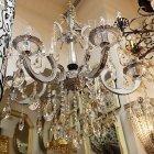 <b>【LA LUCE】</B>クリスタルシャンデリア 6灯 クローム(W700×H700mm)