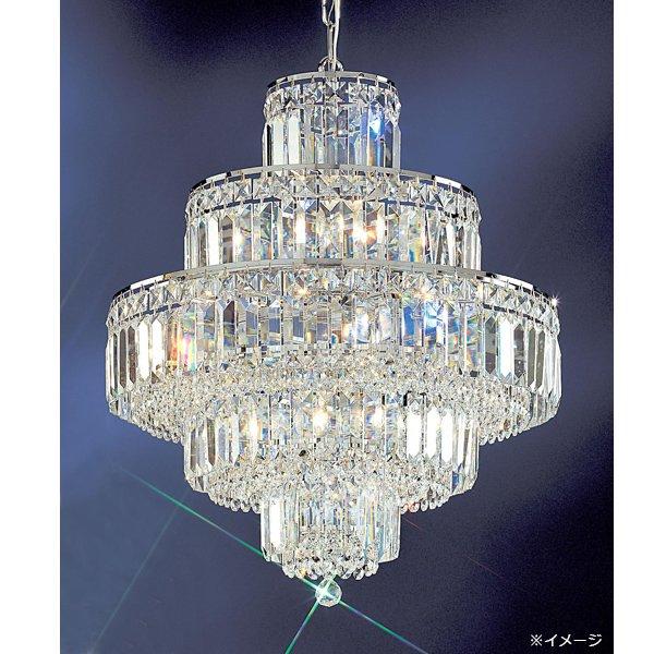 【1台のみ在庫有】 クリスタルシャンデリア 12灯 クローム(W500×H530mm)