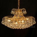 <b>【LA LUCE】</b>デザイン・クリスタルボールシャンデリア 10灯 ゴールドorクローム(W660×H450mm)