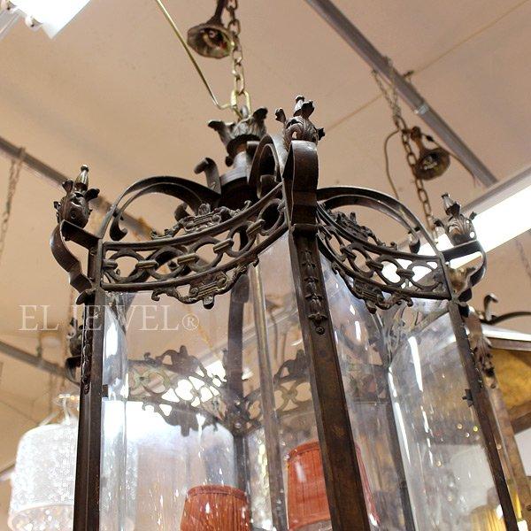 【在庫有!】【PIETER PORTERS】 ベルギーアンティーク調ランタンシャンデリア 3灯(W570×H1160mm)