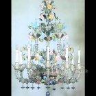 【VENICE ARTE】ヴェネチアンシャンデリア「Rubini」9灯(W1500×H1800mm)