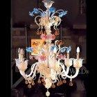 【VENICE ARTE】ヴェネチアンシャンデリア「Applesandpears」6灯(W750×H1100mm)