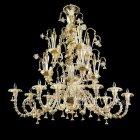 【VENICE ARTE】ヴェネチアンシャンデリア「Doha」12灯(W1600×D1100×H1500mm)
