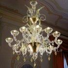 【VENICE ARTE】ヴェネチアンシャンデリア「Madrid」12灯(W1140×H1520mm)