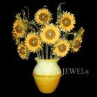【VENICE ARTE】ヴェネチアンブラケット「Sunflowers」 12灯(W600×H700mm)