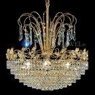 【VENICE ARTE】真鍮製・クリスタルシャンデリア「Palace」3灯(W300×H400mm)