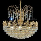 【VENICE ARTE】真鍮製・クリスタルシャンデリア「Palace」8灯(W600×H450mm)