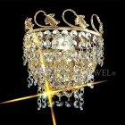 【VENICE ARTE】真鍮製・クリスタルブラケット「Palace」1灯(W150×H160mm)