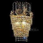 【VENICE ARTE】真鍮製・クリスタルブラケット「Palace」2灯(W220×H260mm)