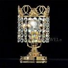 【VENICE ARTE】真鍮製・クリスタルテーブルライト「Palace」1灯(W120×H200mm)