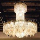 【VENICE ARTE】真鍮製・クリスタラインルシャンデリア「Vienna」55灯(W1400×H1200mm)