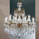【CLT】クリスタルシャンデリア『Madrid Imperial 』18灯 ロマンブロンズ(W760×D760×H890mm)