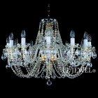 <b>【ART GLASS】</b>チェコorスワロフスキークリスタルシャンデリア 10灯(W750×H520mm)