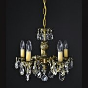 【WRANOVSKY】真鍮製クリスタルシャンデリア「Draco」 5灯 ゴールド(W420×H360mm)