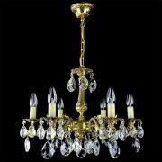 【WRANOVSKY】真鍮製クリスタルシャンデリア「Draco」 6灯 ゴールド(W540×H400mm)