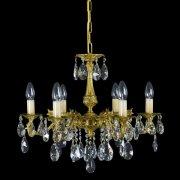 【WRANOVSKY】真鍮製クリスタルシャンデリア「Draco」 6灯 ゴールド(W540×H450mm)