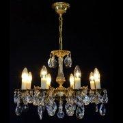 【WRANOVSKY】真鍮製クリスタルシャンデリア「Draco」 8灯 ゴールド(W560×H420mm)