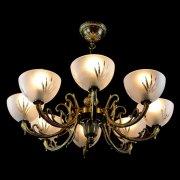 【WRANOVSKY】真鍮製・ガラスシェードシャンデリア「Cirrus」 8灯 ゴールド(W660×H270mm)