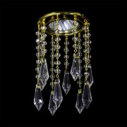 【WRANOVSKY】天井のダウンライトをキラキラに装飾♪ダウンライト用クリスタル「Venus」 (W100×H120mm)