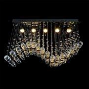 【WRANOVSKY】クリスタルシーリングシャンデリア「Wave」 5灯(W750×D300×H470mm)