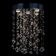 【WRANOVSKY】クリスタルシーリングシャンデリア「Rainfall」 5灯(W400×H650mm)