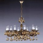 <b>【ART GLASS】</b>チェコクリスタルシャンデリア10灯(W720×H500mm)