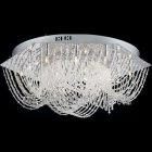 <b>【LA LUCE】</B>デザインクリスタルシーリングシャンデリア12灯(W450×H150mm)