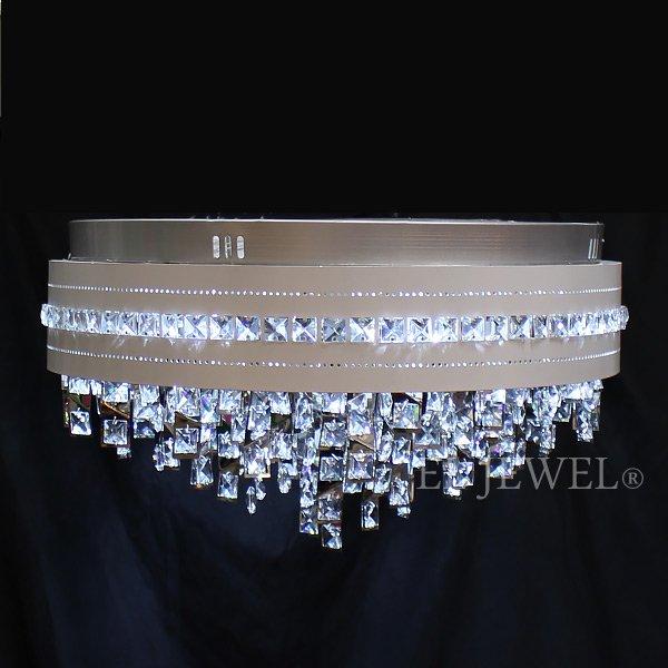 【LA LUCE】 クリスタルシーリングシャンデリア 12灯 クローム(φ600×H310mm)