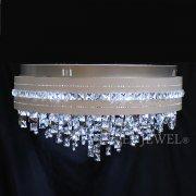 <b>【LA LUCE】</b>クリスタルシーリングシャンデリア 12灯 クローム(φ600×H310mm)