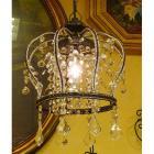 <b></b>アンティーク調ミニシャンデリア1灯「クラウン−アンティーク」(φ250×H300mm)