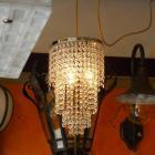 <B>【ALABASTER】</B>クリスタルラインシャンデリア 3灯 クローム(W220×H400mm)