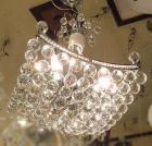 <B>【ALABASTER】</B>ボールクリスタルシャンデリア 4灯 クローム(W420×H450mm)